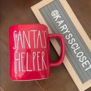 Rae Dunn red Christmas mug SANTA'S HELPER